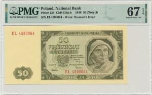 50 złotych 1948 - EL - PMG 67 EPQ