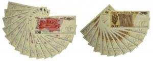Zestaw banknotów PRL 100-500 złotych (29 szt.)