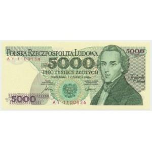 5.000 złotych 1986 - AY - pierwsza seria rocznika