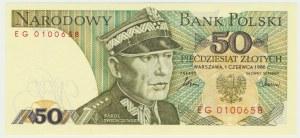 50 złotych 1986 - EG - pierwsza seria rocznika