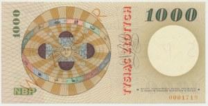 1.000 złotych 1965 - SPECIMEN - A 0000000 -