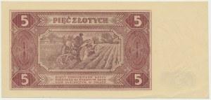 5 złotych 1948 - AF - wyjątkowo świeży druk