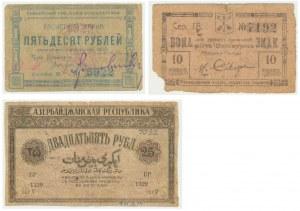 Russia, set of 10-50 rubles 1919-22 (3 pcs.)