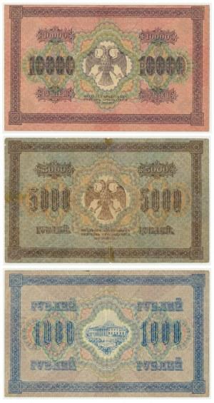 Russia, set of 1.000-10.000 rubles 1917-18 (3 pcs.)