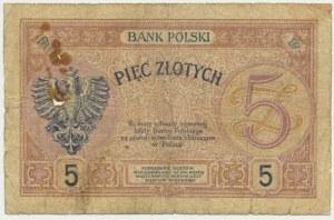 5 złotych 1919 - S.18.A -