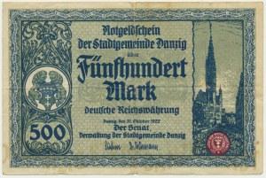 Danzig, 500 mark 1922