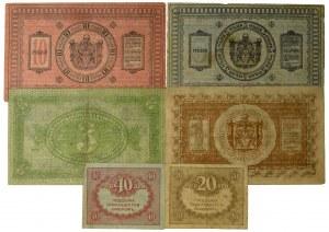 Rosja, Rosja Porewolucyjna, zestaw 1-40 rubli 1918-19 (6 szt.)