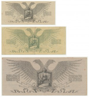Rosja, Północno-Zachodnia Rosja - 1-25 rubli 1917-22 (3 szt.)