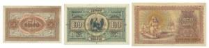Armenia, zestaw 50 - 100 -250 rubli (3 szt.)