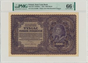 1.000 marek 1919 - II Serja AA - PMG 66 EPQ - ceniona seria