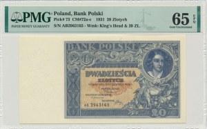 20 złotych 1931 - AB - PMG 65 EPQ