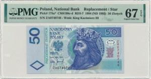 50 złotych 1994 - ZA - PMG 67 EPQ - seria zastępcza - RZADKA
