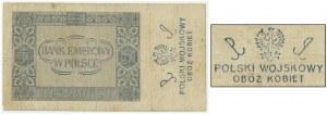 5 złotych 1941 - AC - ze stemplem - Polski Wojskowy/Obóz Kobiet -