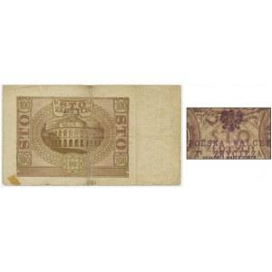 100 złotych 1940 - D - ze stemplem Polska Walczy i Zwycięża -