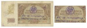 10 złotych 1940 - B - ze stemplem Okręg Warszawski/Dowództwo Grupy IV -