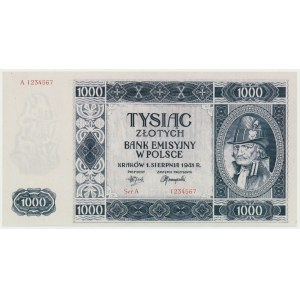 Krakowiak, 1.000 złotych 1941 -