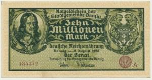 Danzig, 10 milion mark 1923 - A -