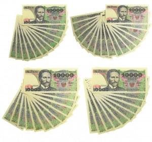 Zestaw serii, 10.000 złotych 1988 (50 szt.)