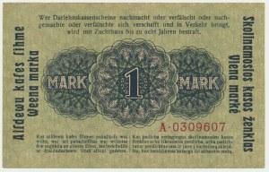 Kowno, 1 marka 1918 - A -