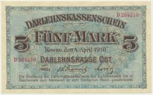 Kowno, 5 mark 1918 - D - BEAUTIFUL