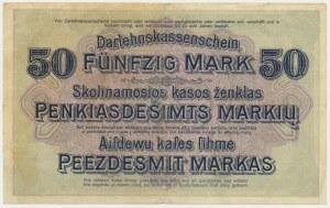 Kowno, 50 marek 1918 - B -