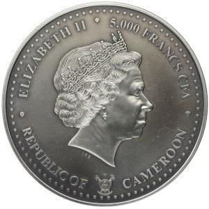 Kamerun, 5000 franków 2016 - Szlak Bursztynowy - 5oz Ag
