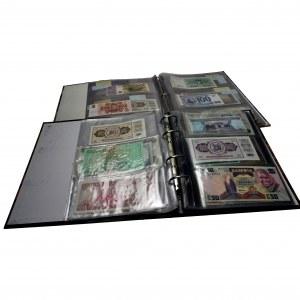 Zestaw, Pieniądze Świata - Banknoty (41 szt.) i kilkadziesiąt magazynów