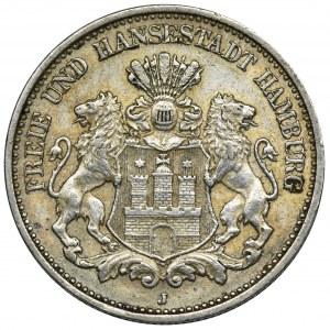 Niemcy, Hamburg, 2 Marki 1912 J - RZADKIE
