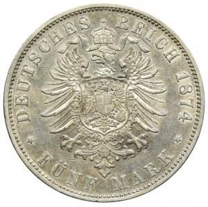 Niemcy, Wirtembergia, Karol, 5 Marek Stuttgart 1874 F