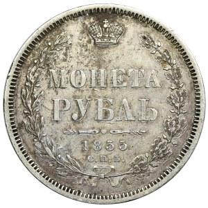 Rosja, Mikołaj I, Rubel Petersburg 1855 СПБ HI