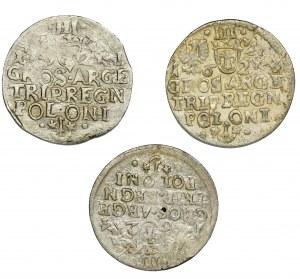 Zestaw, Zygmunt III Waza, Trojaki Kraków (3 szt.)