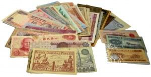 Zestaw, mix banknotów zagranicznych (66 szt.)