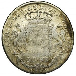 Księstwo Oświęcimsko-Zatorskie, Maria Teresa, 30 krajcarów Wiedeń 1776