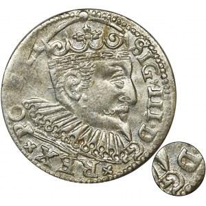 Zygmunt III Waza, Trojak Ryga 1598 - bez znaku pomiędzy DG