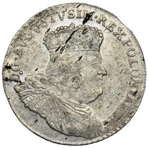 Augustus III of Poland, 8 Groschen Leipzig 1753 - UNLISTED, with star