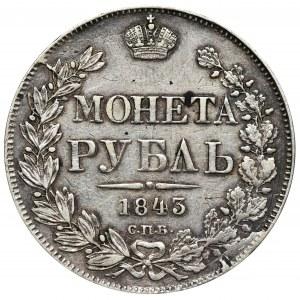 Rosja, Mikołaj I, Rubel Petersburg 1843 СПБ АЧ