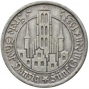 Wolne Miasto Gdańsk, 5 guldenów 1923 Kościół
