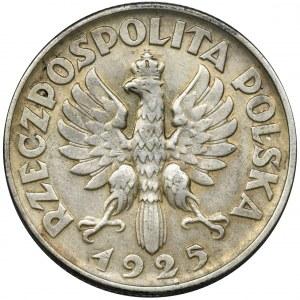 Kobieta i kłosy, 2 złote Filadelfia 1925 - bez kropki po dacie