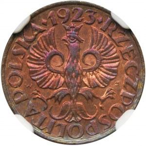 1 grosz 1923 - NGC MS64 RB