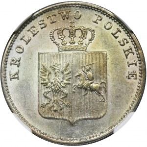Powstanie Listopadowe, 2 złote Warszawa 1831 KG - NGC MS63