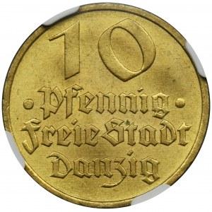 Free City of Danzig, 10 pfennig 1932 - NGC MS64