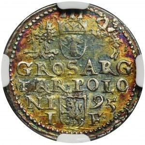 Zygmunt III Waza, Trojak Olkusz 1595 - NGC AU58 - NIENOTOWANY