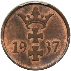 Wolne Miasto Gdańsk, 1 fenig 1937 - PCGS MS63 RB