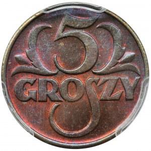 5 groszy 1938 - PCGS MS64 RB