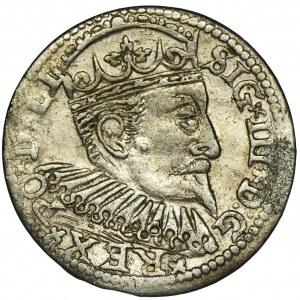 Zygmunt III Waza, Trojak Ryga 1598 - krzyżyki, dwukropek