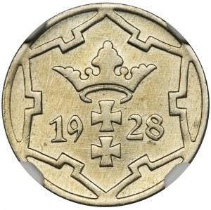 Wolne Miasto Gdańsk, 5 fenigów 1928 - NGC MS63