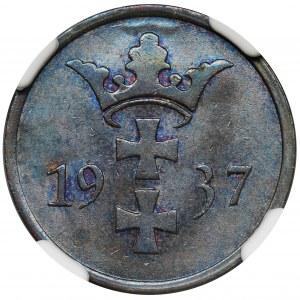 Wolne Miasto Gdańsk, 2 fenigi 1937 - NGC MS65 BN