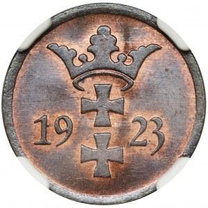 Free City of Danzig, 2 pfennig 1923 - NGC MS65 BN