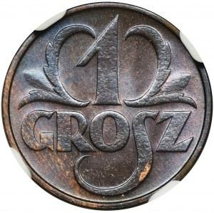 1 grosz 1933 - NGC MS64 RB