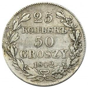 25 kopiejek = 50 groszy Warszawa 1842 MW - RZADKIE